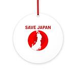 save japan Ornament (Round)