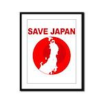save japan Framed Panel Print