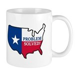 Problem Solved Flag Mugs