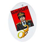 Catch Gaddafi Ornament (Oval)