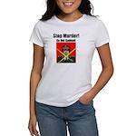 Stop murder ! Gaddafi Women's T-Shirt