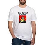 Stop murder ! Gaddafi Fitted T-Shirt