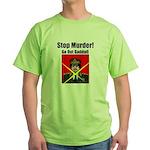Stop murder ! Gaddafi Green T-Shirt