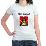 Stop murder ! Gaddafi Jr. Ringer T-Shirt