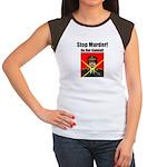 Stop murder ! Gaddafi Women's Cap Sleeve T-Shirt