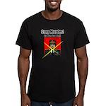 Stop murder ! Gaddafi Men's Fitted T-Shirt (dark)