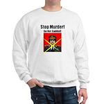 Stop murder ! Gaddafi Sweatshirt