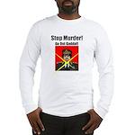 Stop murder ! Gaddafi Long Sleeve T-Shirt