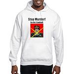 Stop murder ! Gaddafi Hooded Sweatshirt