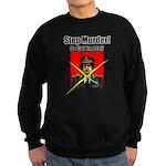 Stop murder ! Gaddafi Sweatshirt (dark)