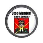 Stop murder ! Gaddafi Wall Clock