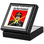 Stop murder ! Gaddafi Keepsake Box