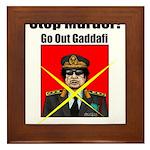 Stop murder ! Gaddafi Framed Tile