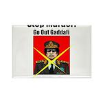 Stop murder ! Gaddafi Rectangle Magnet (100 pack)