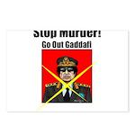 Stop murder ! Gaddafi Postcards (Package of 8)
