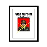 Stop murder ! Gaddafi Framed Panel Print