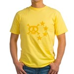 kuuma skull star Yellow T-Shirt