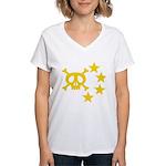 kuuma skull star Women's V-Neck T-Shirt
