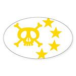 kuuma skull star Sticker (Oval 10 pk)