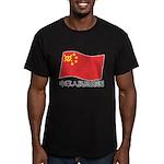 black china Men's Fitted T-Shirt (dark)