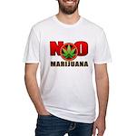 kuuma NO marijuana Fitted T-Shirt