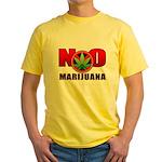 kuuma NO marijuana Yellow T-Shirt