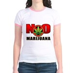 kuuma NO marijuana Jr. Ringer T-Shirt