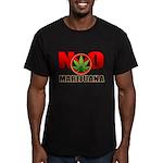 kuuma NO marijuana Men's Fitted T-Shirt (dark)