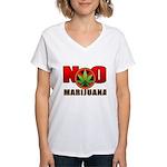 kuuma NO marijuana Women's V-Neck T-Shirt