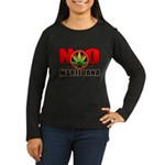 kuuma NO marijuana Women's Long Sleeve Dark T-Shir