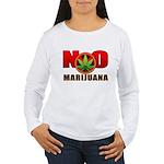 kuuma NO marijuana Women's Long Sleeve T-Shirt