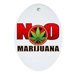 kuuma NO marijuana Ornament (Oval)