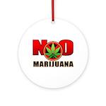 kuuma NO marijuana Ornament (Round)