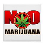 kuuma NO marijuana Tile Coaster
