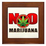 kuuma NO marijuana Framed Tile