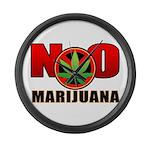 kuuma NO marijuana Large Wall Clock