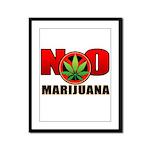 kuuma NO marijuana Framed Panel Print