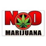 kuuma NO marijuana Sticker (Rectangle 10 pk)