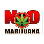 kuuma NO marijuana Sticker (Rectangle 50 pk)