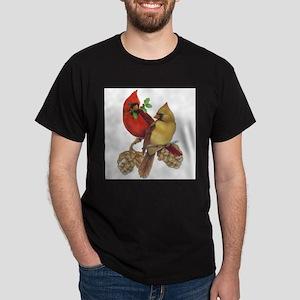 Winter Cardinals Ash Grey T-Shirt