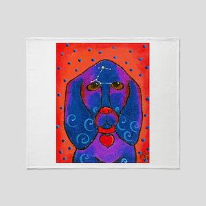 Siriusly -Basset hound Throw Blanket