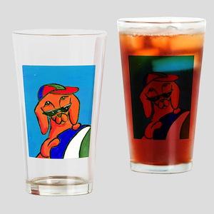 Dog Days of Summer Dachshund Drinking Glass