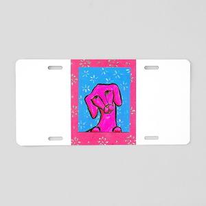 Pink Doxie - Daschhund Aluminum License Plate