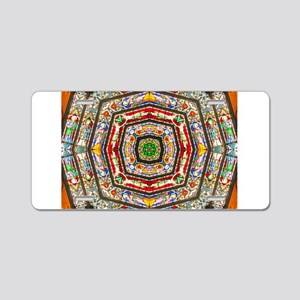 Rings of Stained Glass Aluminum License Plate
