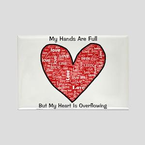 Full Hands/Full Heart Rectangle Magnet