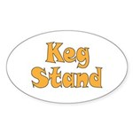 Keg Stand Sticker (Oval 10 pk)