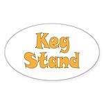 Keg Stand Sticker (Oval 50 pk)