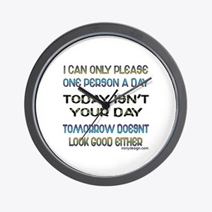 I Can Only Please... Wall Clock