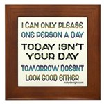 I Can Only Please... Framed Tile Picture