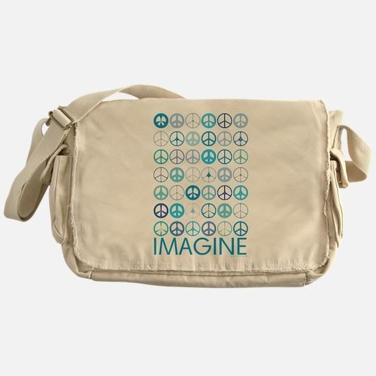 Imagine Peace Signs Messenger Bag